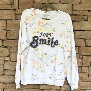🌼WILDFOX Just Smile SOMMERS SWEATER Medium🌼